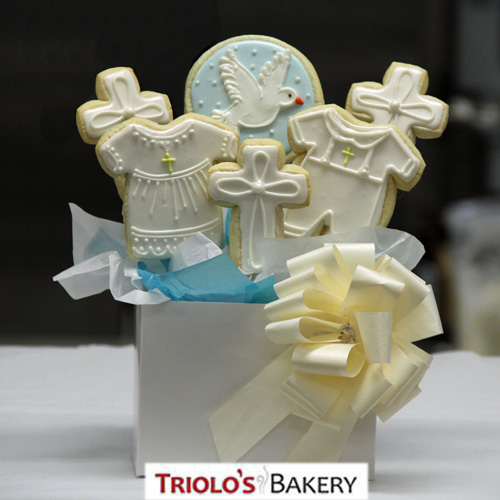 Christening Gift Basket - Gift Baskets from Triolo's Bakery