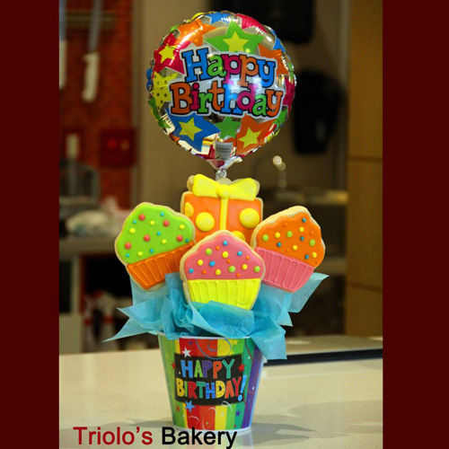 Birthday Cookie Gift - Gift Baskets from Triolo's Bakery