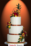 The Autumn Elegance Wedding Cake - Triolo's Bakery