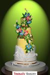 Breaking Tradition Wedding Cake - Triolo's Bakery