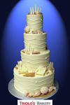 New Hampshire Seacost Wedding Cake - Triolo's Bakery