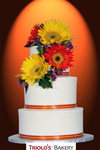 The Autumn Sunflower Wedding Cake - Triolo's Bakery