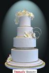 The Bling Wedding Cake - Triolo's Bakery