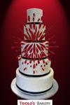 Fireworks Wedding Cake - Triolo's Bakery
