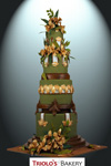 Golden Orchids Wedding Cake - Triolo's Bakery
