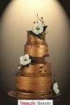 Innocent Steel Magnolias Wedding Cake - Triolo's Bakery