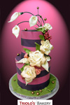 Whimiscal Blossoms Wedding Cake - Triolo's Bakery