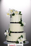 Orchid and String Work Wedding Cake - Triolo's Bakery