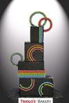 Rainbow Wedding Cake - Triolo's Bakery