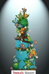 Tropical Rainforest Wedding Cake - Triolo's Bakery