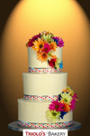 Neon Wedding Cake - Triolo's Bakery