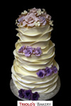 Variegated Rose Wedding Cake - Triolo's Bakery