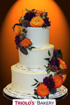 Autumn Blossoms Wedding Cake - Triolo's Bakery