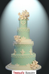Victorian String Wedding Cake - Triolo's Bakery