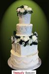 The White Wedding Wedding Cake - Triolo's Bakery